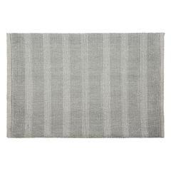Łazienkowy dywanik w paski splot pętelkowy srebrny 60x90 cm - 60 X 90 cm - popielaty 2