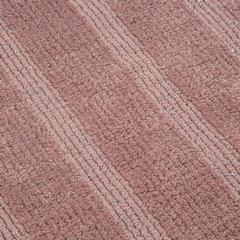 Łazienkowy dywanik w paski splot pętelkowy różowy 60x90 cm - 60 X 90 cm - różowy 6