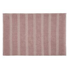 Łazienkowy dywanik w paski splot pętelkowy różowy 60x90 cm - 60 X 90 cm - różowy 2