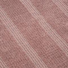Łazienkowy dywanik w paski splot pętelkowy różowy 60x90 cm - 60 X 90 cm - różowy 3