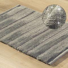Łazienkowy dywanik w paski splot pętelkowy beż 60x90 cm - 60 X 90 cm - granatowy 1