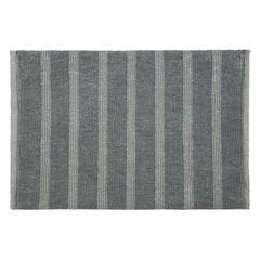 Łazienkowy dywanik w paski splot pętelkowy beż 60x90 cm - 60 X 90 cm - granatowy 2