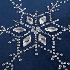 Granatowy bieżnik z kryształami świąteczny 40x140 cm - 40 X 140 cm - granatowy 3