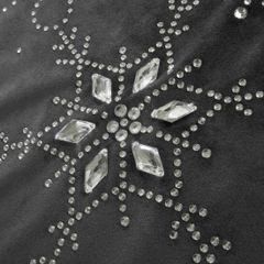 Stalowy szary bieżnik z kryształami świąteczny 40x140 cm - 40 X 140 cm - grafitowy 3