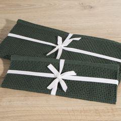 Jednokolorowa podkładka stołowa plaster miodu zielona 33x48 cm - 33 X 48 cm - ciemnozielony 2