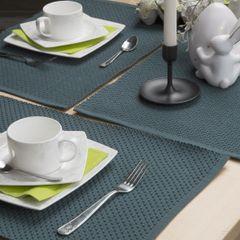 Jednokolorowa podkładka stołowa plaster miodu zielona 33x48 cm - 33 X 48 cm - ciemnozielony 4