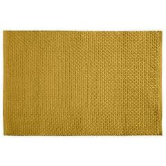 Jednokolorowa podkładka stołowa plaster miodu musztardowa 33x48 cm - 33 X 48 cm - musztardowy 1