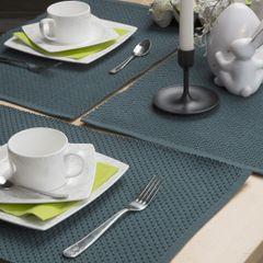 Jednokolorowa podkładka stołowa plaster miodu musztardowa 33x48 cm - 33 X 48 cm - musztardowy 4