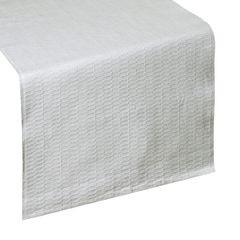 Biały bieżnik z bawełny i lureksu obrus 40x140 cm - 40 X 140 cm - biały/srebrny 1