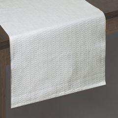 Biały bieżnik z bawełny i lureksu obrus 40x140 cm - 40 X 140 cm - biały/srebrny 2