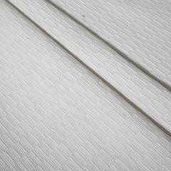 Biały bieżnik z bawełny i lureksu obrus 40x140 cm - 40 X 140 cm - biały/srebrny 5