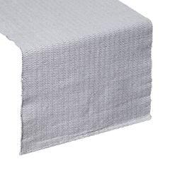 Strukturalny bieżnik na stół stalowy szary 40x140 cm - 40 X 140 cm - biały/srebrny 1