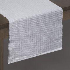 Strukturalny bieżnik na stół stalowy szary 40x140 cm - 40 X 140 cm - biały/srebrny 2