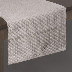 Biały bawełniany bieżnik tłoczony 40x140 cm - 40 X 140 cm - biały 2
