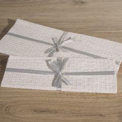 Biały bawełniany bieżnik tłoczony 40x140 cm - 40 X 140 cm - biały 3