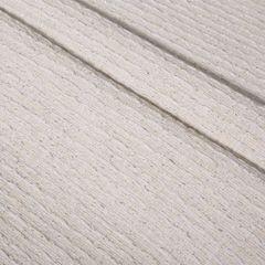 Biały bawełniany bieżnik tłoczony 40x140 cm - 40 X 140 cm - biały 5