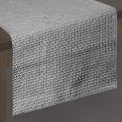 Srebrny bawełniany bieżnik tłoczony 40x140 cm - 40x140 - Srebrny 2