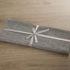 Srebrny bawełniany bieżnik tłoczony 40x140 cm - 40x140 - Srebrny 3