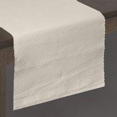Beżowy bieżnik na stół strukturalny w paski bawełniany 40x140 cm - 40 X 140 cm - beżowy 2