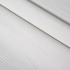 Biały bieżnik na stół strukturalny w paski bawełniany 40x140 - 40 X 140 cm - biały 5
