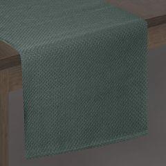 Ciemny zielony bieżnik na stół bawełniany 40x140 cm - 40 X 140 cm - ciemnozielony 2
