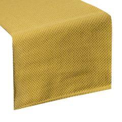 Musztardowy bieżnik na stół bawełniany 40x140 cm - 40 X 140 cm - musztardowy 1