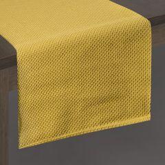 Musztardowy bieżnik na stół bawełniany 40x140 cm - 40 X 140 cm - musztardowy 2