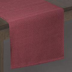 Bordowy bieżnik na stół bawełniany 40x140 cm - 40 X 140 cm - bordowy 2