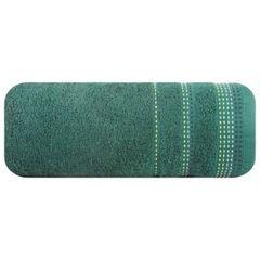 Ręcznik z bawełny z ozdobnym stebnowaniem 50x90cm - 50 X 90 cm - butelkowy zielony 2