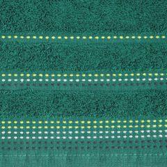 Ręcznik z bawełny z ozdobnym stebnowaniem 50x90cm - 50 X 90 cm - butelkowy zielony 4