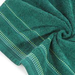 Ręcznik z bawełny z ozdobnym stebnowaniem 50x90cm - 50 X 90 cm - butelkowy zielony 5