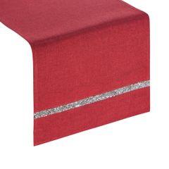 Czerwony bieżnik na stół do jadalni cekiny 33x180 cm - 33 X 180 cm - czerwony 1