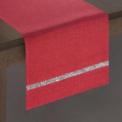 Czerwony bieżnik na stół do jadalni cekiny 33x180 cm - 33 X 180 cm - czerwony 2