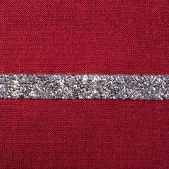 Czerwony bieżnik na stół do jadalni cekiny 33x180 cm - 33 X 180 cm - czerwony 3