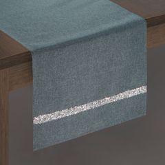 Grafitowy bieżnik na stół do jadalni cekiny 33x180 cm - 33 X 180 cm - grafitowy 2