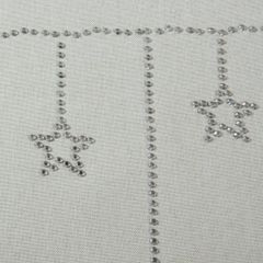 Kremowy świąteczny bieżnik z cyrkoniami 33x140 cm - 33 X 140 cm - naturalny 3