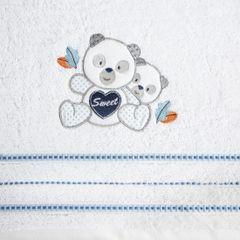 Ręcznik dziecięcy kąpielowy misie biały niebieski 50x90 - 50 X 90 cm - biały 8