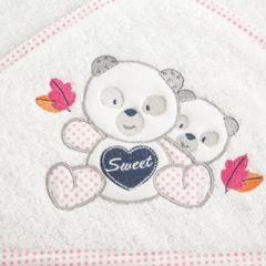 Ręcznik dziecięcy kąpielowy z kapturem misie 75x75  - 75 X 75 cm - biały 8