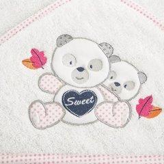 Ręcznik dziecięcy kąpielowy z kapturem misie 75x75  - 75 X 75 cm - biały 5