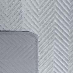 Narzuta welwetowa wykonana techniką hot press - 70 X 160 cm - srebrny 3