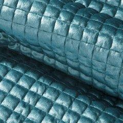 Welwetowa narzuta pikowana niebieska 170x210cm - 170 X 210 cm - morski 4
