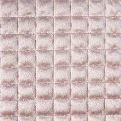 Welwetowa narzuta pikowana pudrowy róż 170x210 cm - 170 X 210 cm - pudrowy 5