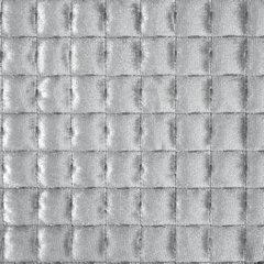Welwetowa narzuta pikowana srebrna 170x210 cm - 170 X 210 cm - srebrnoszary 5