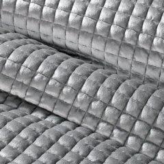 Welwetowa narzuta pikowana srebrna 170x210 cm - 170 X 210 cm - srebrnoszary 6