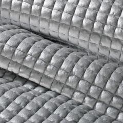 Welwetowa narzuta pikowana srebrna 170x210 cm - 170 X 210 cm - srebrnoszary 4