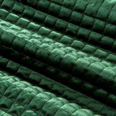 Welwetowa NARZUTA pikowana ciemno zielona 170x210 cm - 170x210 - Zielony 2