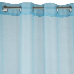 Zasłona niebieska struktura deszczyku przelotki 140x250 cm - 140 X 250 cm - niebieski 4