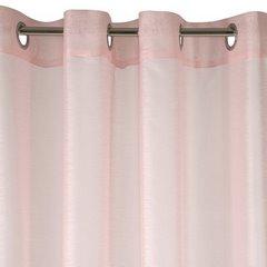 Zasłona różowa struktura deszczyku przelotki 140x250 cm - 140 X 250 cm - różowy 4