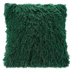 Zielona POSZEWKA FUTERKOWA ze srebrną nicią 40x40 cm - 40x40 - Zielony 1
