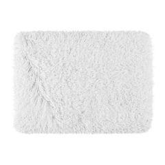 Ozdobny dywanik z błyszcząca nicią biały 50x70 cm - 50 X 70 cm - biały 2